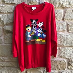 VTG Walt Disney Retro Top 3/4 Sleeve Big Sleeve